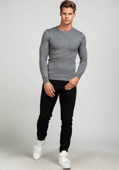 Šedý pánský svetr Bolf 9001