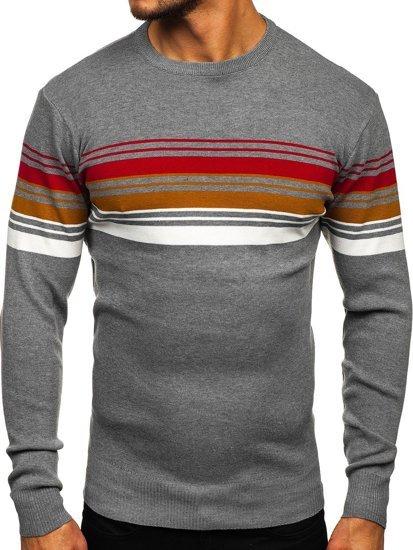 Šedý pánský svetr Bolf H2061