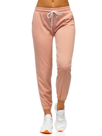 Světle růžové dámské tepláky Bolf YW01020D