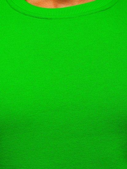 Světle zelená pánská mikina bez kapuce Bolf 2001