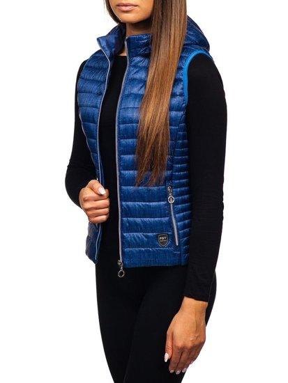 Tmavě modrá dámská vesta Bolf AB042