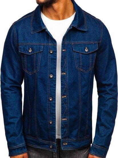 Tmavě modrá pánská džínová bunda Bolf 1110