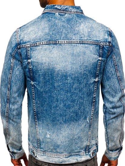 Tmavě modrá pánská džínová bunda Bolf 6671B