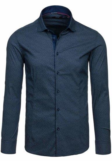 Tmavě modrá pánská košile Bolf 7182