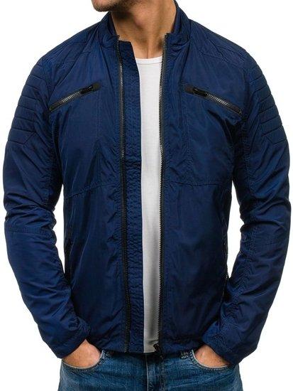 Tmavě modrá pánská přechodová bunda Bolf 118