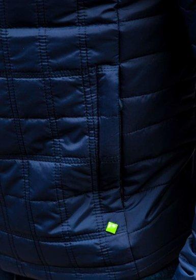Tmavě modrá pánská sportovní přechodová bunda Bolf M503