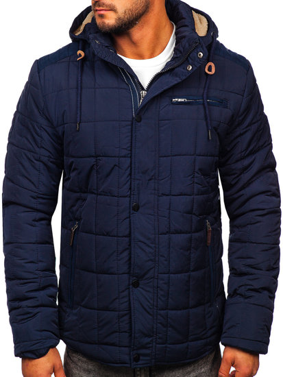 Tmavě modrá pánská zimní bunda Bolf 1672