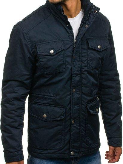 Tmavě modrá pánská zimní bunda Bolf 3147