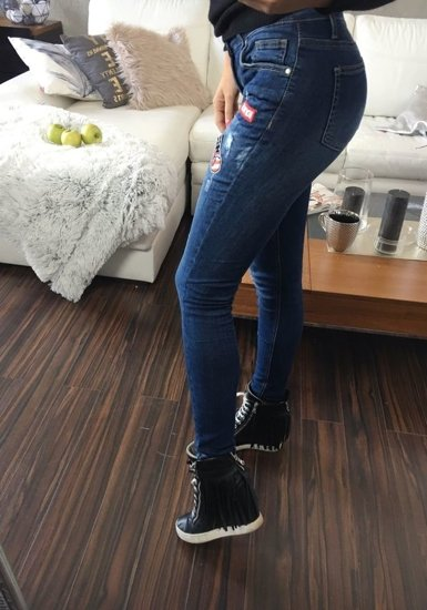 Tmavě modré dámské džíny Bolf 636