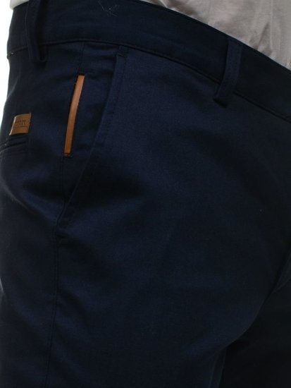 Tmavě modré pánské chino kalhoty Bolf 0100