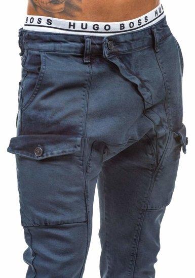Tmavě modré pánské džínové baggy kalhoty Bolf 191