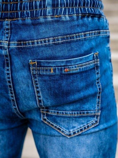 Tmavě modré pánské džínové jogger kahoty Bolf KA1555