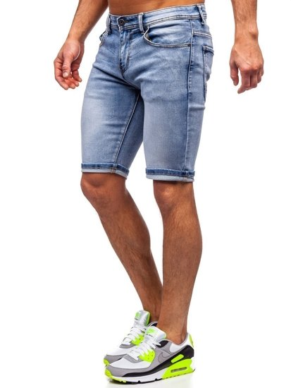 Tmavě modré pánské džínové kraťasy Bolf KG3763