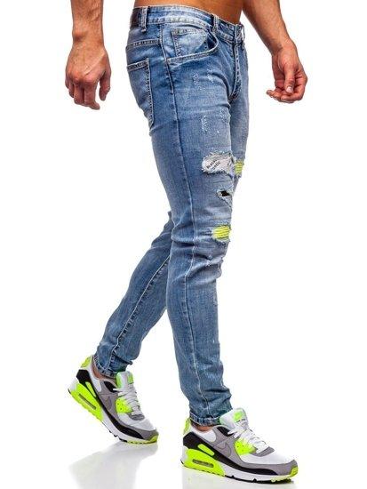 Tmavě modré pánské džíny skinny fit Bolf KA1873
