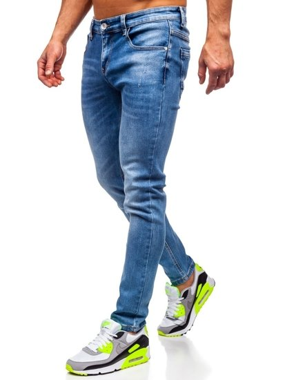 Tmavě modré pánské džíny skinny fit Bolf KX399