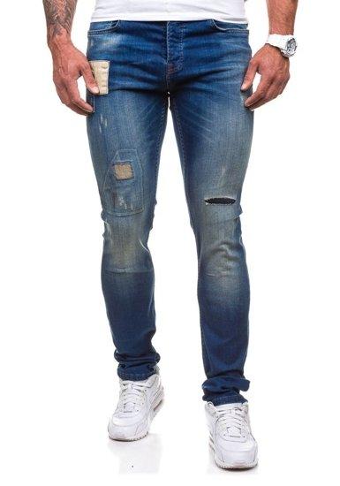 Tmavě modré pánské džíny slim fit Bolf 250