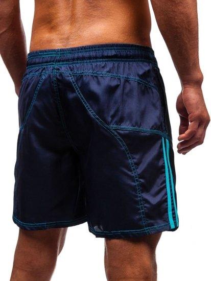 Tmavě modré pánské koupací šortky Bolf 362