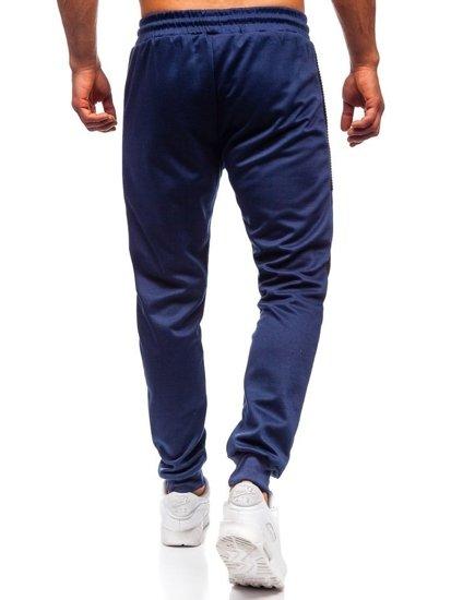 Tmavě modré pánské tepláky Bolf JZ11015