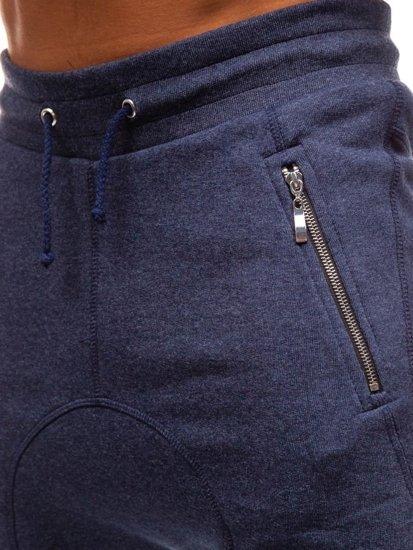 Tmavě modré pánské tepláky baggy Bolf 43S-S
