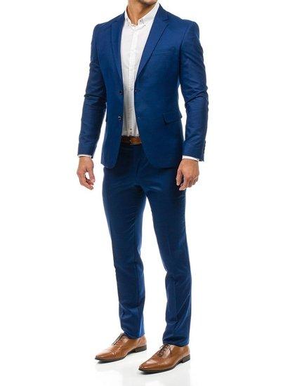 Tmavě modrý pánský oblek-1 Bolf 1000