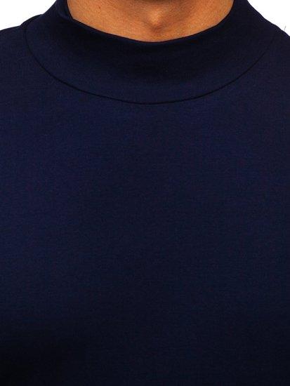 Tmavě modrý pánský rolák bez potisku Bolf 145348