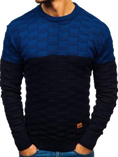 Tmavě modrý pánský svetr Bolf 6003