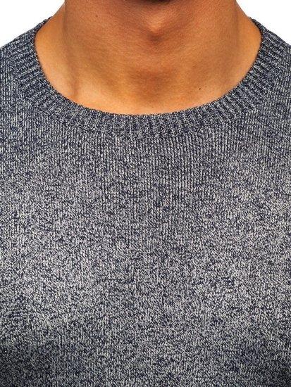 Tmavě modrý pánský svetr Bolf 8529