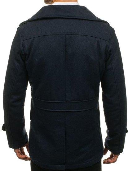 Tmavě modrý pánský zimní kabát Bolf EX906
