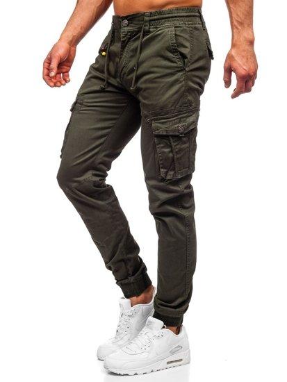 Tmavě zelené pánské jogger kapsáče Bolf CT6703