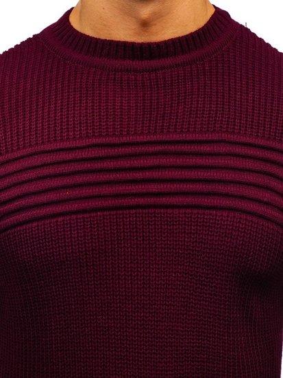 Vínový pánský svetr Bolf 6004