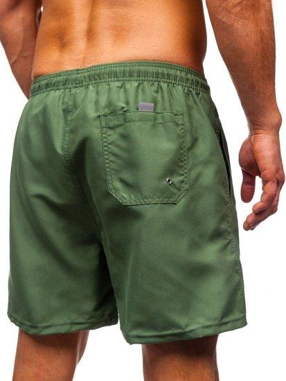 Zelené pánské plavecké šortky Bolf ST001