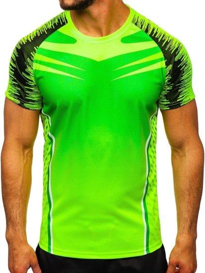 Zelené pánské sportovní tričko Bolf KS2059
