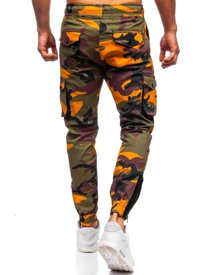 Zeleno-oranžové pánské jogger kapsáče Bolf 0705