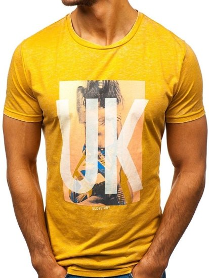 Žluté pánské tričko Bolf 7645