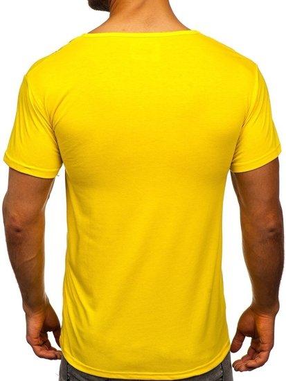Žluté pánské tričko s potiskem Bolf KS1998