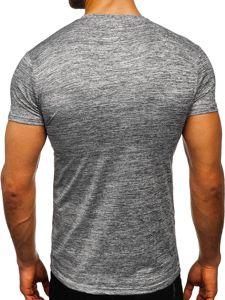 Antracitové pánské sportovní tričko bez potisku Bolf S01