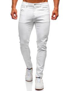 Bílé pánské džíny skinny fit Bolf KX576-12