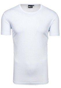 Bílé pánské tričko bez potisku Bolf T30