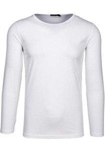 Bílé pánské tričko s dlouhým rukávem Bolf 5549