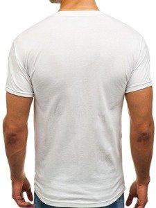 Bílé pánské tričko s potiskem Bolf 0007
