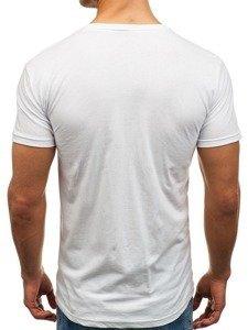 Bílé pánské tričko s potiskem Bolf 002