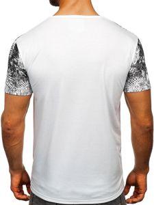Bílé pánské tričko s potiskem Bolf KS1980
