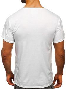 Bílé pánské tričko s potiskem Bolf KS2016