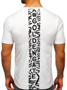Bílé pánské tričko s potiskem Bolf KS7332