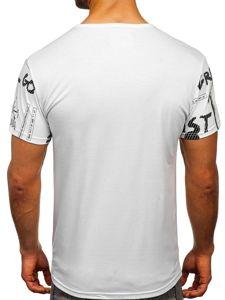 Bílé pánské tričko s potiskem Bolf SS10926