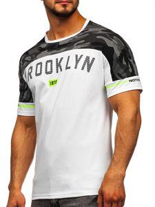 Bílé pánské tričko s potiskem Bolf SS10977