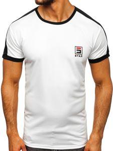Bílé pánské tričko s potiskem Bolf SS10990