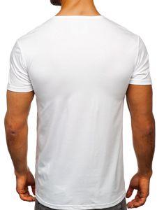 Bílé pánské tričko s potiskem Bolf SS11097