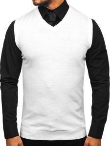 Bílý pánský svetr bez rukávů Bolf 2500