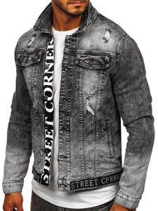 Černá pánská džínová bunda Bolf 6691G